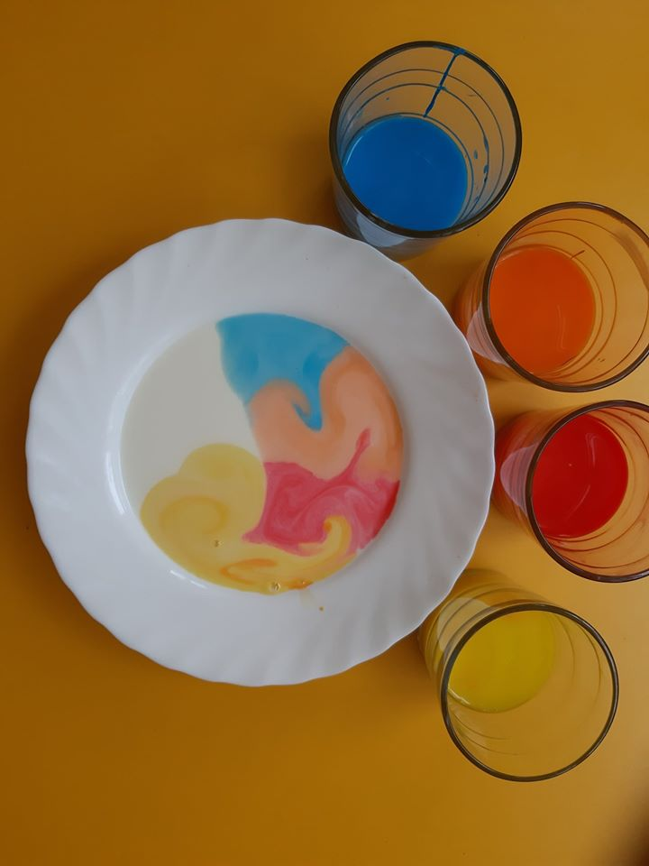 Malowanie na mleku